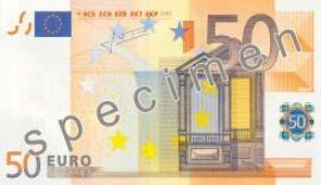 FIFTY EURO NOTES. FREE PRINTING.
